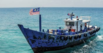 A Malaysian supply vessel in the South China Sea. Source: Kai Morgener https://bit.ly/2T2pthT