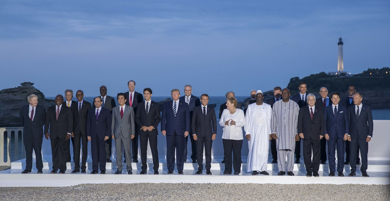 The last G7 summit before COVID-19 Pandemic, photographer Paul Kagame, sourced from Flickr, https://bit.ly/3x6inY3