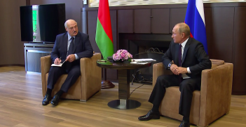 Alexander Lukashenko And Vladimir Putin in 2020, photography the Presidential Press and Information Office, sourced from Wikimedia Commons https://bit.ly/2Rvjbqa
