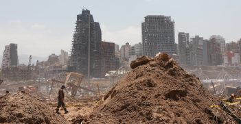 Beirut after the explosion in August 2020, photography Bernard Kahill, sourced from Flickr, https://bit.ly/3gbfRsS