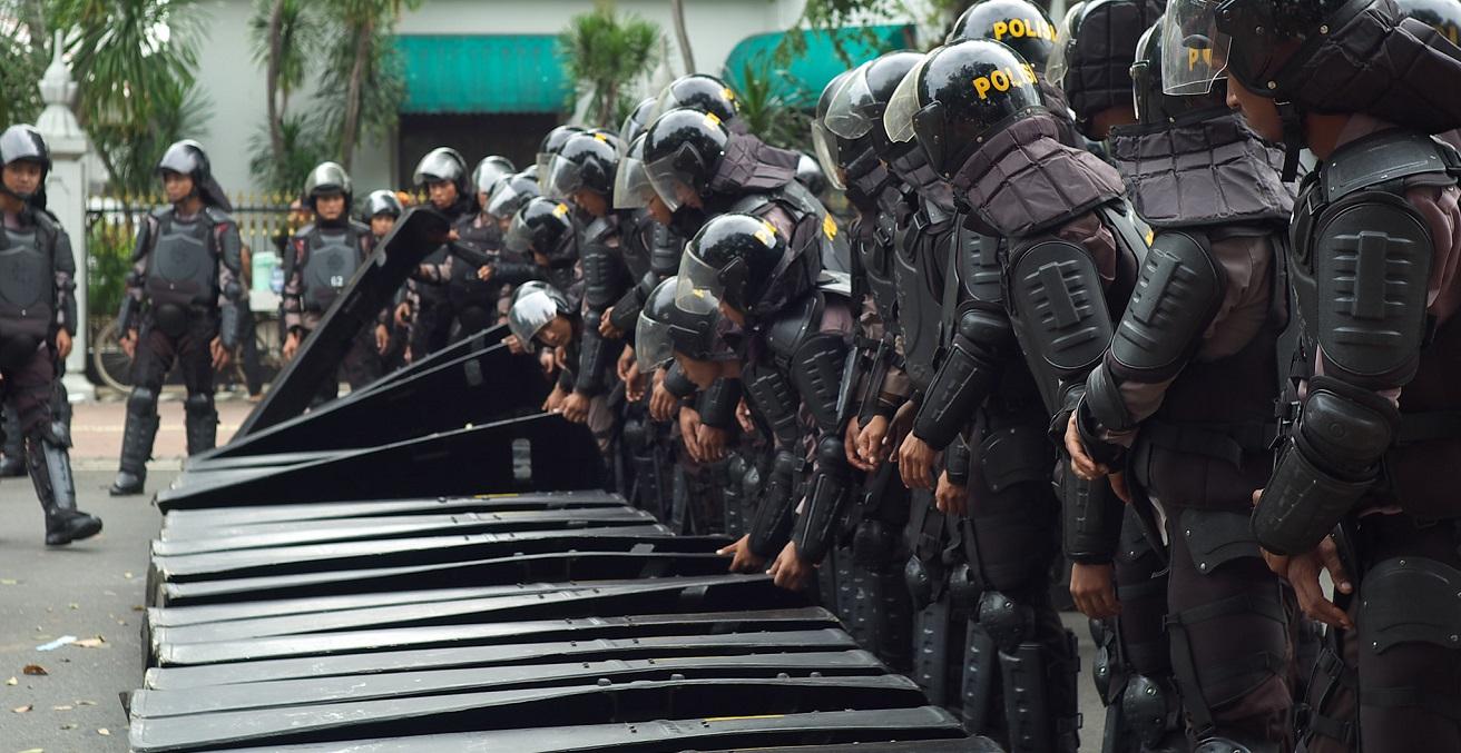 Jakarta police. Source: Seika https://bit.ly/3y1tthM