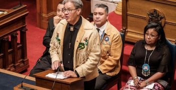Indigenous Canadians testify in the British Columbia government during a session on recognizing and protecting the rights of Indigenous Peoples in 2019. Source: Province of British Columbia https://bit.ly/3f0ge9x