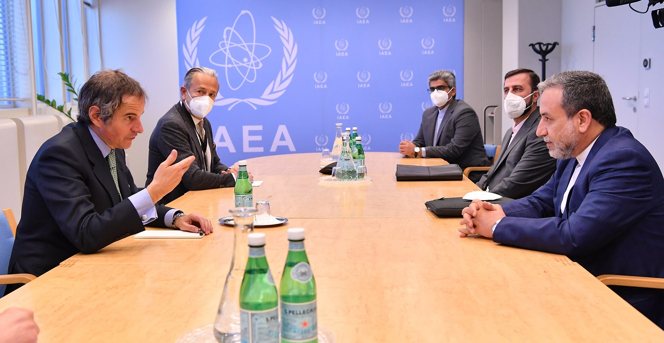 IAEA Director General Rafael Mariano Grossi met with HE Dr. Seyed Abbas Araghchi, Deputy Foreign Minister for Political Affairs of the Islamic Republic of Iran during his official visit at the Agency headquarters in Vienna, Austria on 6 May 2021. Source: Dean Calma/IAEA https://bit.ly/3B2Ixhe