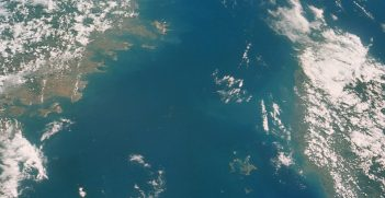Photograph of China, Taiwan: Fukien Province; Formosa Strait, Pescadores Islands looking north taken during the Gemini X mission. Source: NASA.