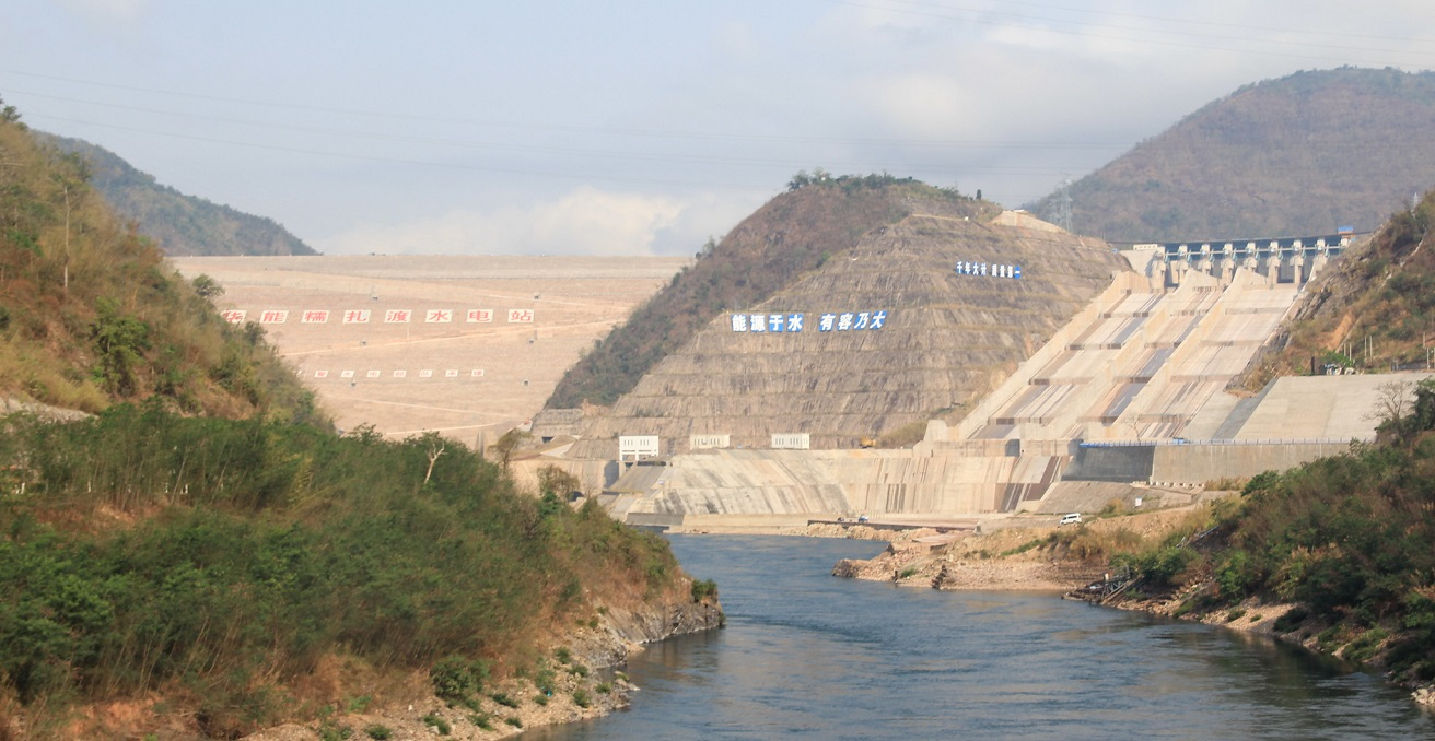 Nuozhadu, the largest dam on the Lancang (Mekong) River in China. Source: International Rivers https://www.flickr.com/photos/internationalrivers/8762468928