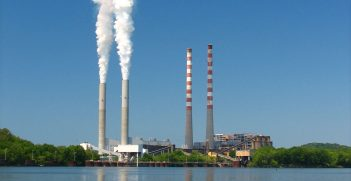 This is the Tennessee Valley Authority (TVA) Cumberland Fossil Plant, better known as the Cumberland City Steam Plant. It is located on the Cumberland River in Cumberland City, Tennessee. Source: Roger Smith https://bit.ly/3iFyYxm