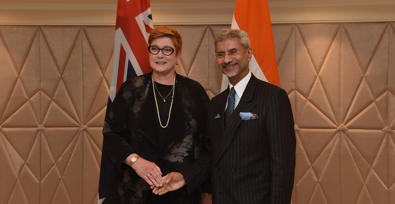 External Affairs Minister meets Marise Payne, Foreign Minister of Australia during Raisina Dialogue 2020 Source:   MEAphotogallery https://bit.ly/2XNNF9W
