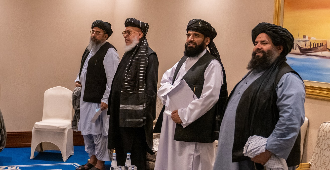 Members of the Taliban Negotiation Team, in Doha, Qatar. Source: State Department Photo by Ron Przysucha/ Public Domain