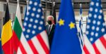 President Joe Biden poses for photos as he arrives and is greeted by President of the European Commission Ursula von der Leyen, Tuesday, June 15, 2021, at the European Council Headquarters in Brussels. (Official White House Photo by Cameron Smith)