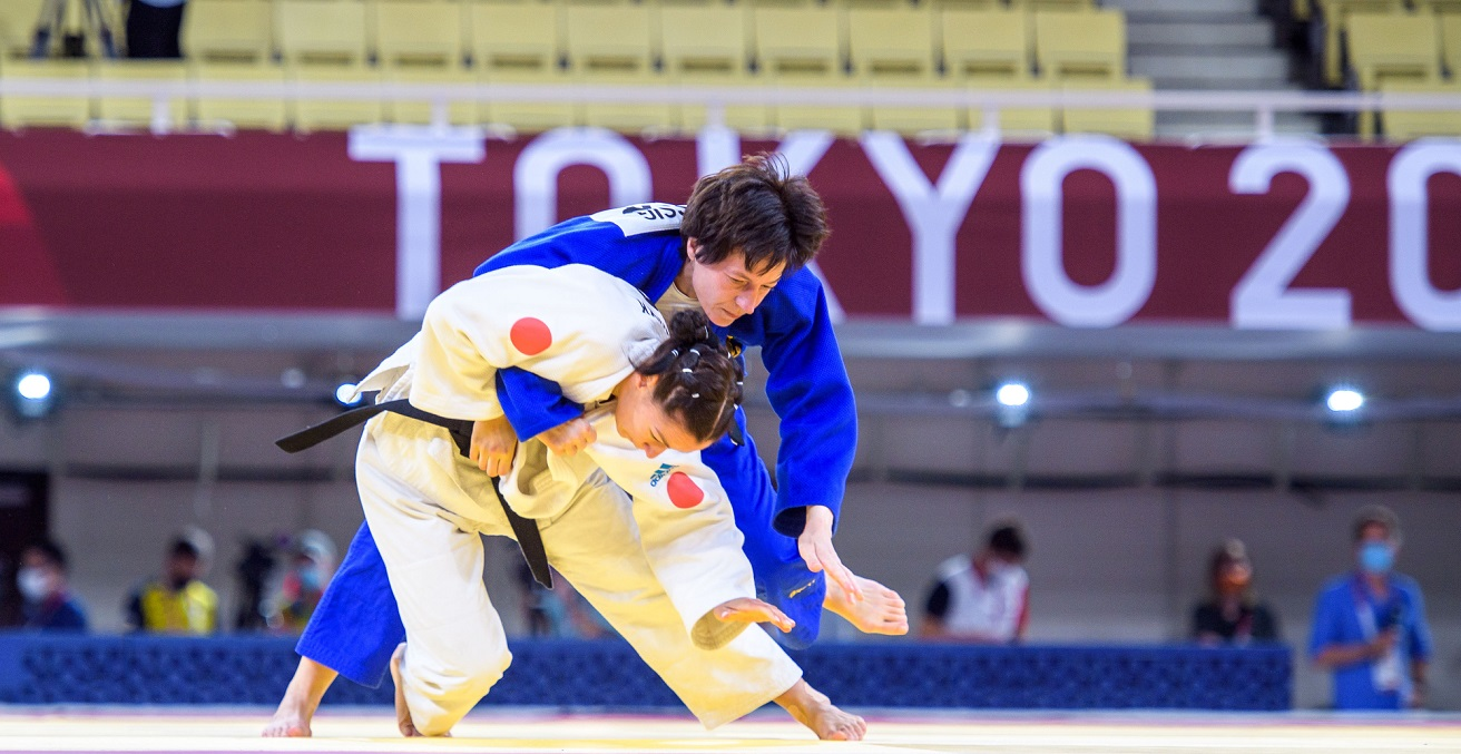 Women's judo at the Toko 2020 Paralympic Games. Source: Oliver Kremer https://bit.ly/3E3e57W