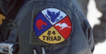 An airman wears a patch commemorating the joint Australian, New Zealand and US (ANZUS) Exercise TRIAD '84. Source: MSGT David N. Craft https://bit.ly/3l50mVE