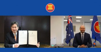 Ambassador of Australia to ASEAN, H.E. Will Nankervis, presented his Letter of Credence to the Secretary-General of ASEAN, H.E. Dato Lim Jock Hoi, through video conference on 15 September 2020. Source: http://aadcp2.org/about-us/